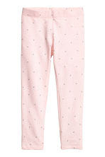 Jersey leggings - Light pink/Hearts -  | H&M CN 2